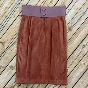 VINTAGE 80s GUCCI Leather Suede Skirt + Belt